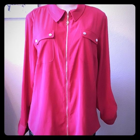 Susan Graver Jackets & Blazers - Hot Pink Blouse Jacket